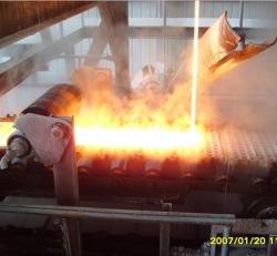 泡花碱水玻璃窑炉出料成型机